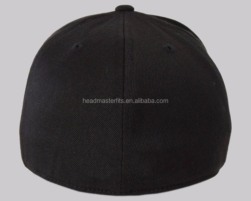 15922c1293751 ... buy 100 cotton spandex fitted baseball cap 6 panel fitted brimless  baseball cap b187a 4e0f6