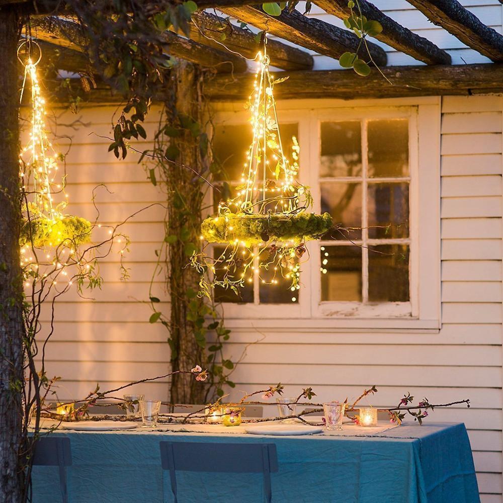 Outdoor Lighting Garden String 220v 10m 33ft 100 Led String Outdoor  Creative Decoration Festival Tree Lights