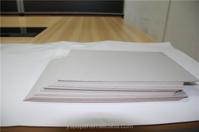 300gsm~2500gsm book binding grey chip board
