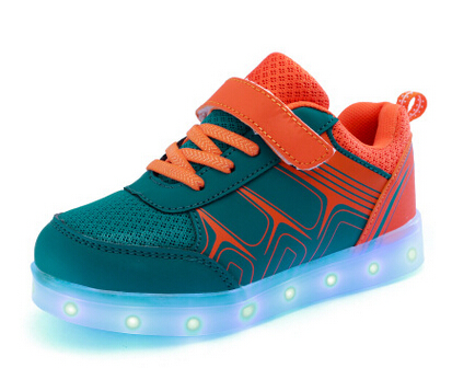 Night Lighting kid casual jogging LED shoes