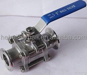 "Three piece Clamp End Industrial Ball Valve With ISO5211 Mounting Pad , 1000WOG , 1/2/""-3"""