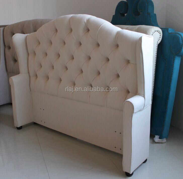luxus stoff bett mit hohem kopfteil franz sisch stil bett. Black Bedroom Furniture Sets. Home Design Ideas
