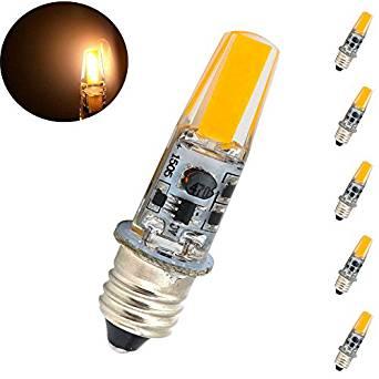 Bonlux 12V Mini Candelabra Base E11 LED Light Bulb 2W Warm White E11 Mini Candelabra LED Indicator Light 20W Halogen Replacement Bulb (Pack of 5)