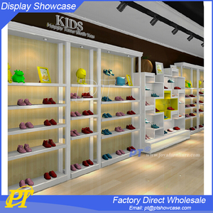 MDF kids shoe display furniture for shoes store design
