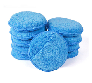 6 inch Car Waxing Polish Soft Microfiber Foam Sponge Applicator Pads Car Cleaning Detailing Pads For CarWash CareDetailing