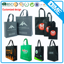 custom pp material recycled non woven shopping tote bag no minimum
