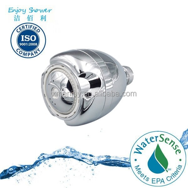 Flow rate control water saving shower head