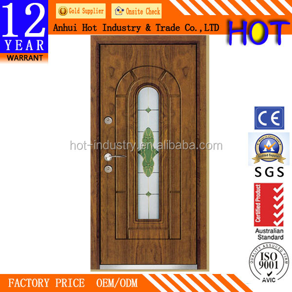 China Product Turkey Steel Iron Glass Doors / Exterior Metal Doors / Room Doors