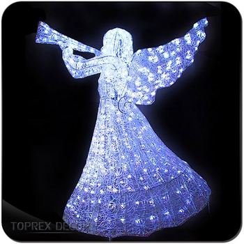 Led Christmas Figures Small Lighted Angel Outdoor Decorations