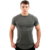 men hot sale tri blend t shirt muscle fit exercise t shirts with curved hem