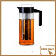Soğuk Demlemek Kahve makinesi filtre Buzlu kahve makinesi soğuk demlemek kapaklı Çıkarılabilir ve Tekrar Kullanılabilir Filtresi Mükemmel Sıcak veya buzlu