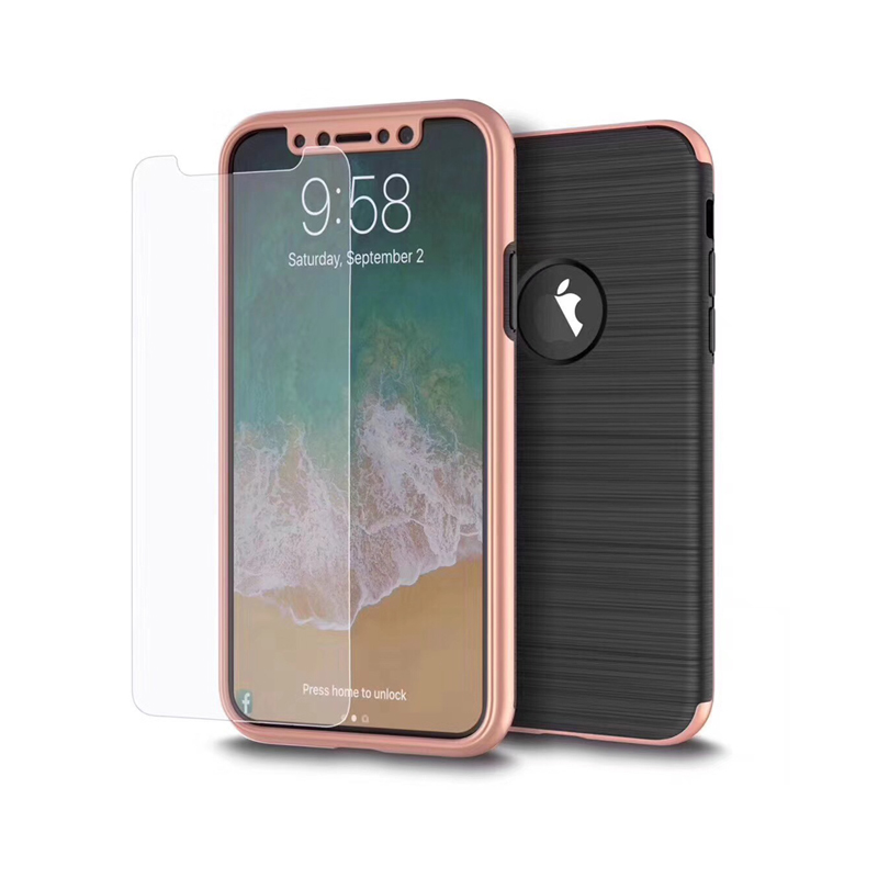 High Quality tpu pc for iphone x 360 degree mobile phone case