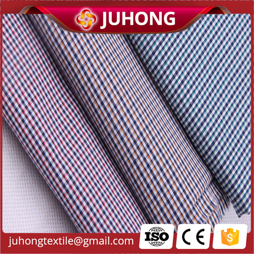 Check cotton yarn dyed fabric 100% cotton shirting fabric