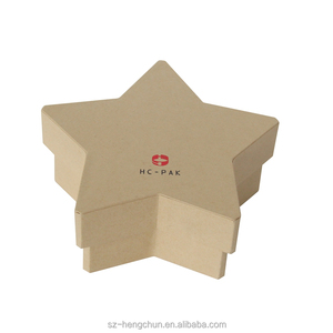 Kraft paper star shaped cardboard gift packaging box