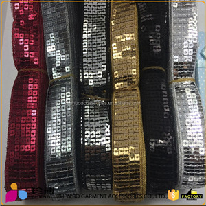 Zhenbo wholesale square eco-friendly fabric beauty beads sequins lace fabric