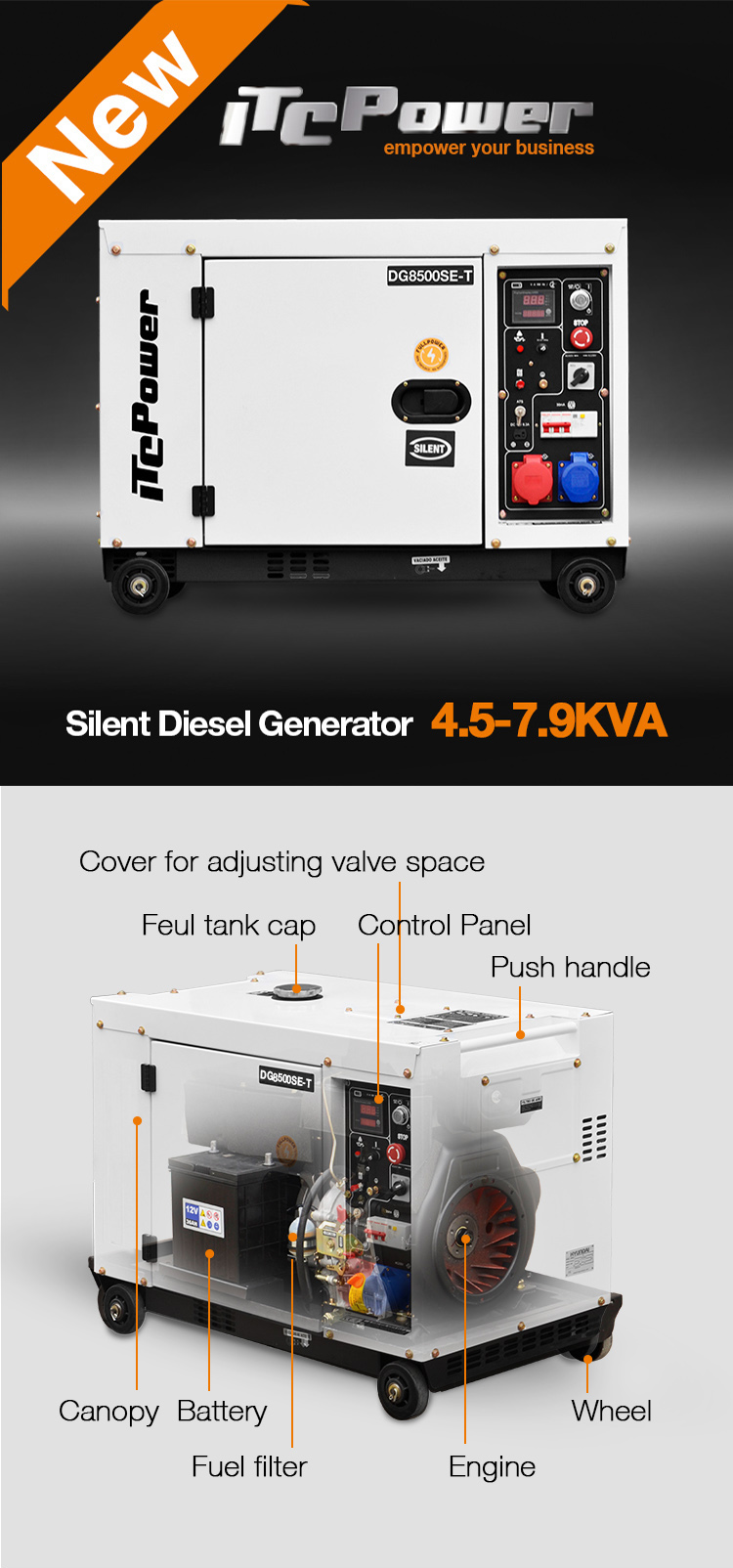 Buon prezzo 5kva monofase generatore diesel silenzioso