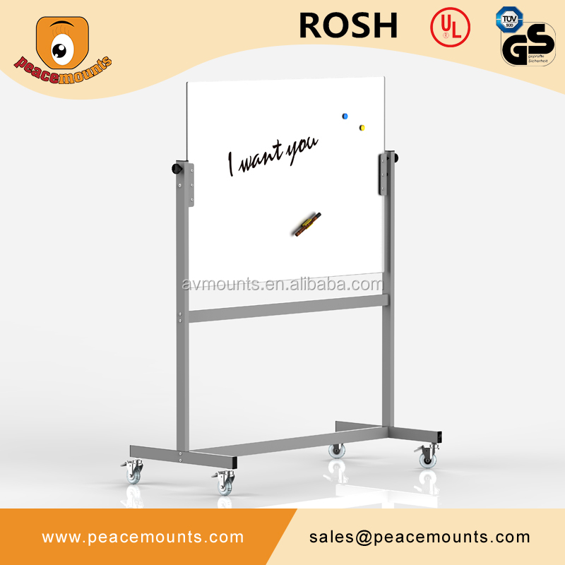 GB04 Business <strong>School</strong> use best selling polished freestanding flexible magnet glass whiteboard