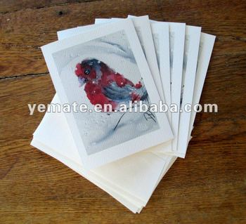 Christmas Cards,Red Finch In Snow Watercolor Painting Card,Set Of ...
