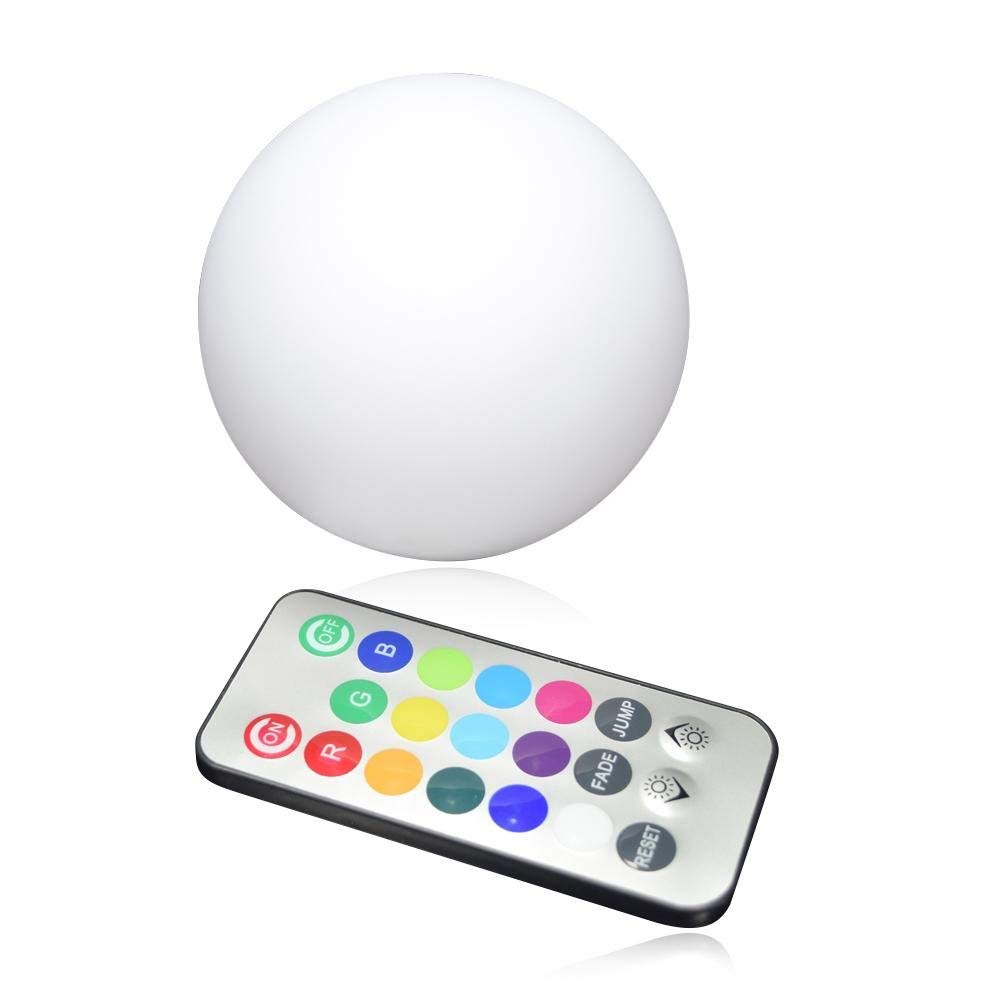 Laideyilan Remote Control LED Ball Light,Diameter 8cm IP68 Waterproof LED Pool Lights Floating Float Colorful Night Light Christmas Tree Decoration Hanging Ball Light