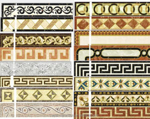 cheap glazed tile border line for india H6015-27