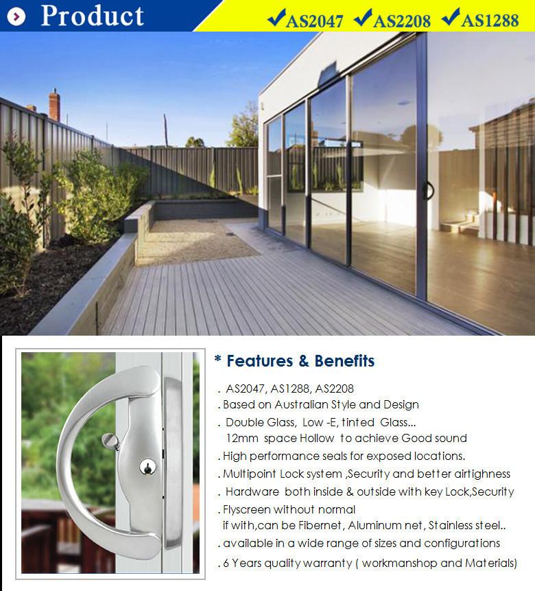 Glass Partition Door / Soundproof Interior Sliding Door