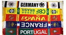 Best seller excellent quality many patterns foldable neck hanging football sport scarf