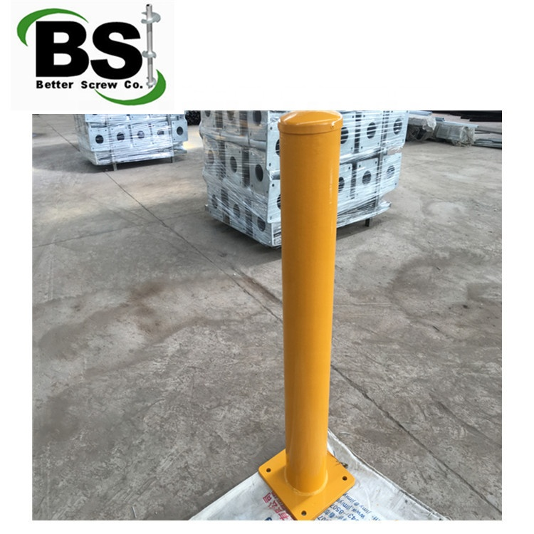 Bolt Down Security Bollard Galvanised and Powder Coated