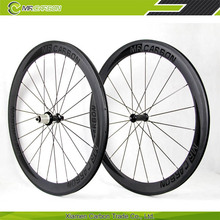 700c bicycle clincher used carbon wheels for 50mm road bike