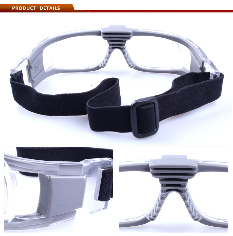 Fashion unique basketball safety glasses for outdoor sport