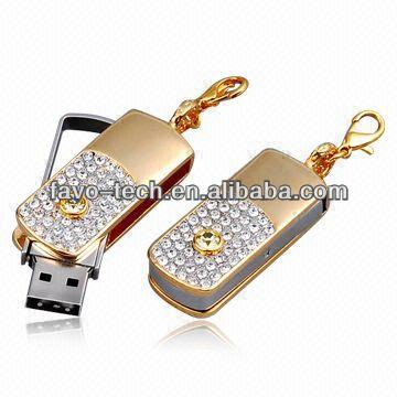 Luxury Gift Jewelry/Diamond USB flash drive For Girls Shop