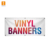 Custom Printing size Outdoor Vinyl Fence mesh Banners with grommets