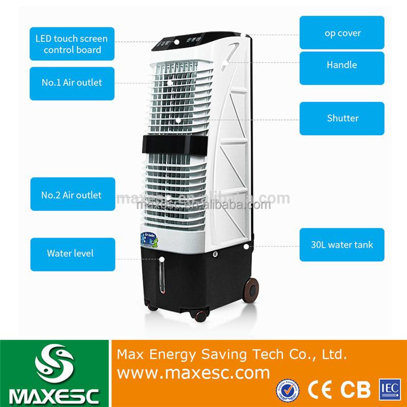Portable Moving Vertical Evaporative Cooling Pad Water Air Conditioner