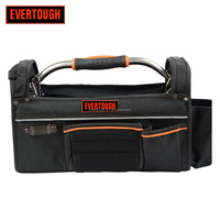 polyester Open Tote Tool Bag carriers with steel handle tool bag OEM ODM