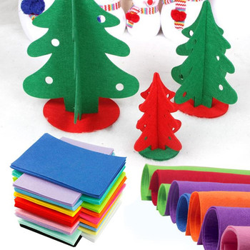 christmas tree decorations felt pattern wholesale bulk needle punched colored craft polyester felt fabric