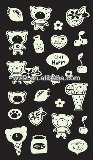 Lovely Bear Custom Make Glitter Stickers Buy Custom Make Glitter - Custom glitter stickers