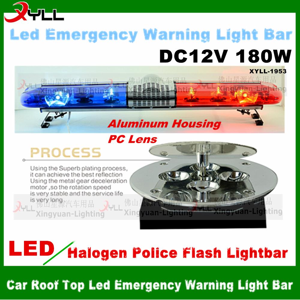 Dc 12v Factory Price Halogen Police Light Bar Flash Warning Led ...