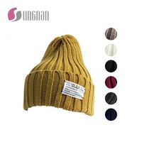 Wholesale high quality fashion winter knitted wool hat for men,custom knitted hat cheap goods from china