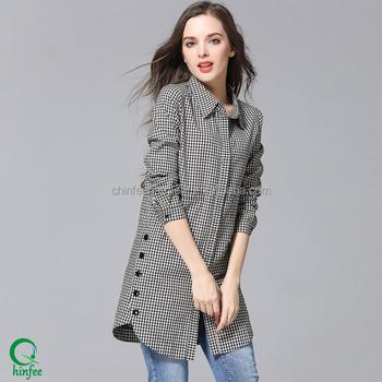 Wholesale Muslim Women Long Sleeve Plaid Shirts - Buy Shirt Long ... ee249646a44