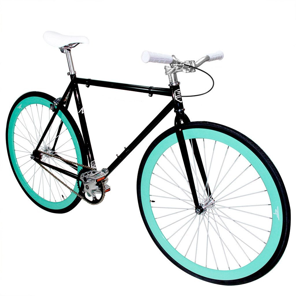 Zycle Fix Fixed Gear Series- ZF Black Skies II Model Shiny Black Frame - FREE inner tubes with purchase (Chaoyang Brand)