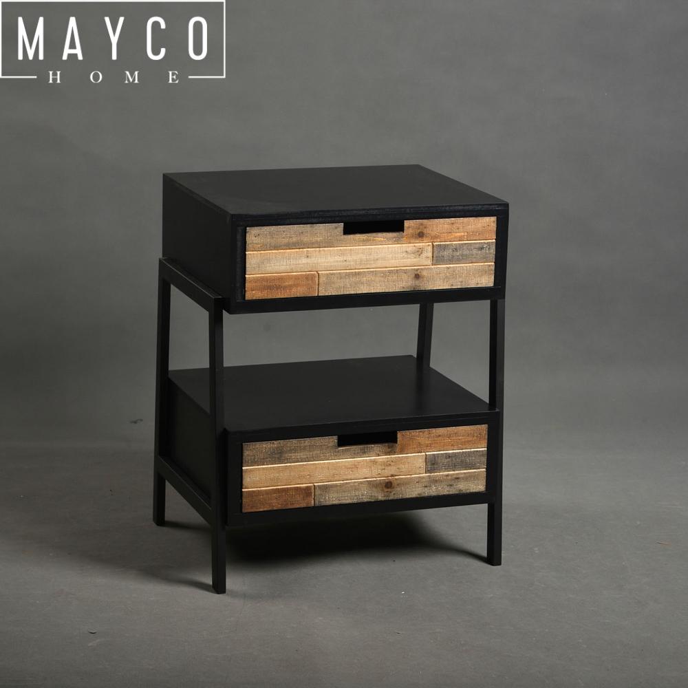 Mayco Modern Wood Metal Nightstand Side Table,End Bedroom Bedside Table  Night Stand - Buy Nightstand,Nightstand Side Table,Night Stand Product on  ...