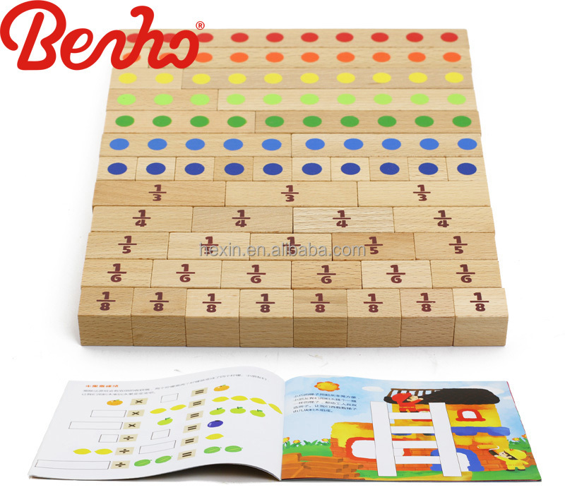 New arrival Number Stick kids bulk wooden blocks natural