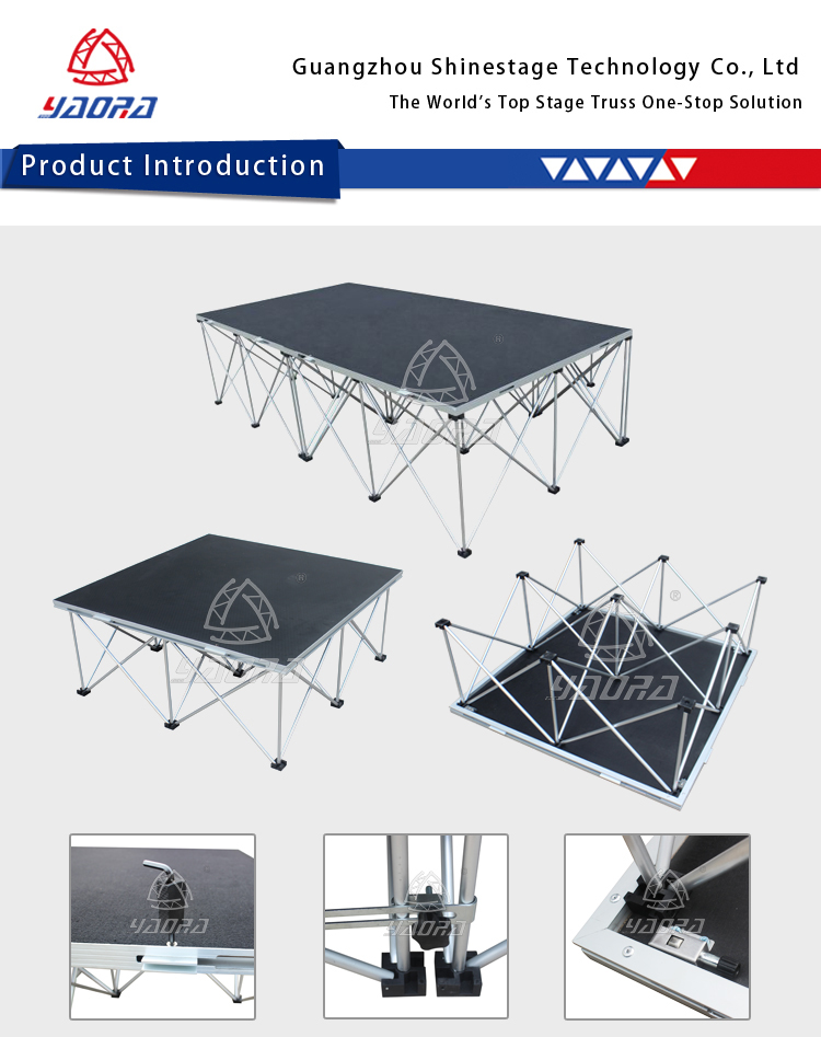 Module Pop Up Spider Stage/ Portable Truss Stage