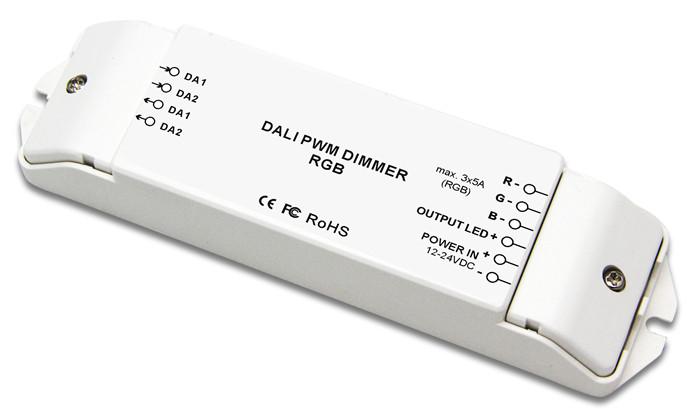 Bincolor DC12V-24V 3 channels led rgb dali dimming driver