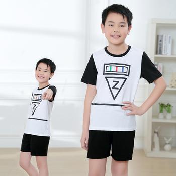 f8f05036 Модная детская одежда 2 шт. летняя футболка и шорты комплект одежды для  мальчиков бутик наряд