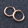 No MOQ! 316 Surgical Stainless Steel Rose Gold Hoop Circle huggie Earrings