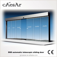 automatic telescopic glass sliding door