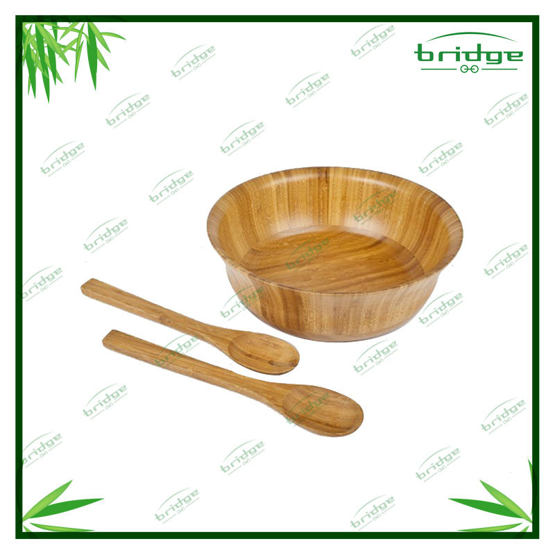 bamboo wood spoon round bamboo sala bowl