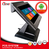 Guangzhou factory production andriod POS terminal POS system POS All in one for supermarket restaurant cinema with software