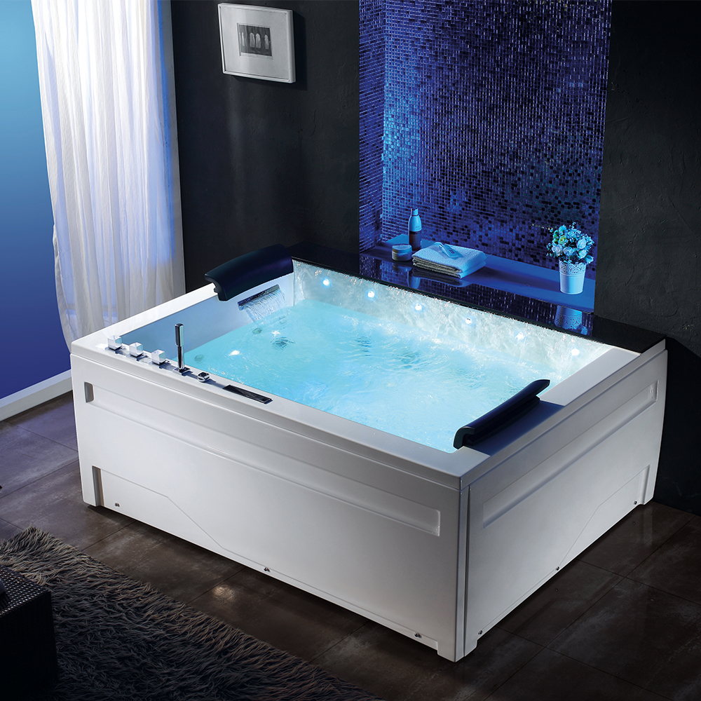 Contemporary Double Sided Bathtub Composition - Bathroom with ...