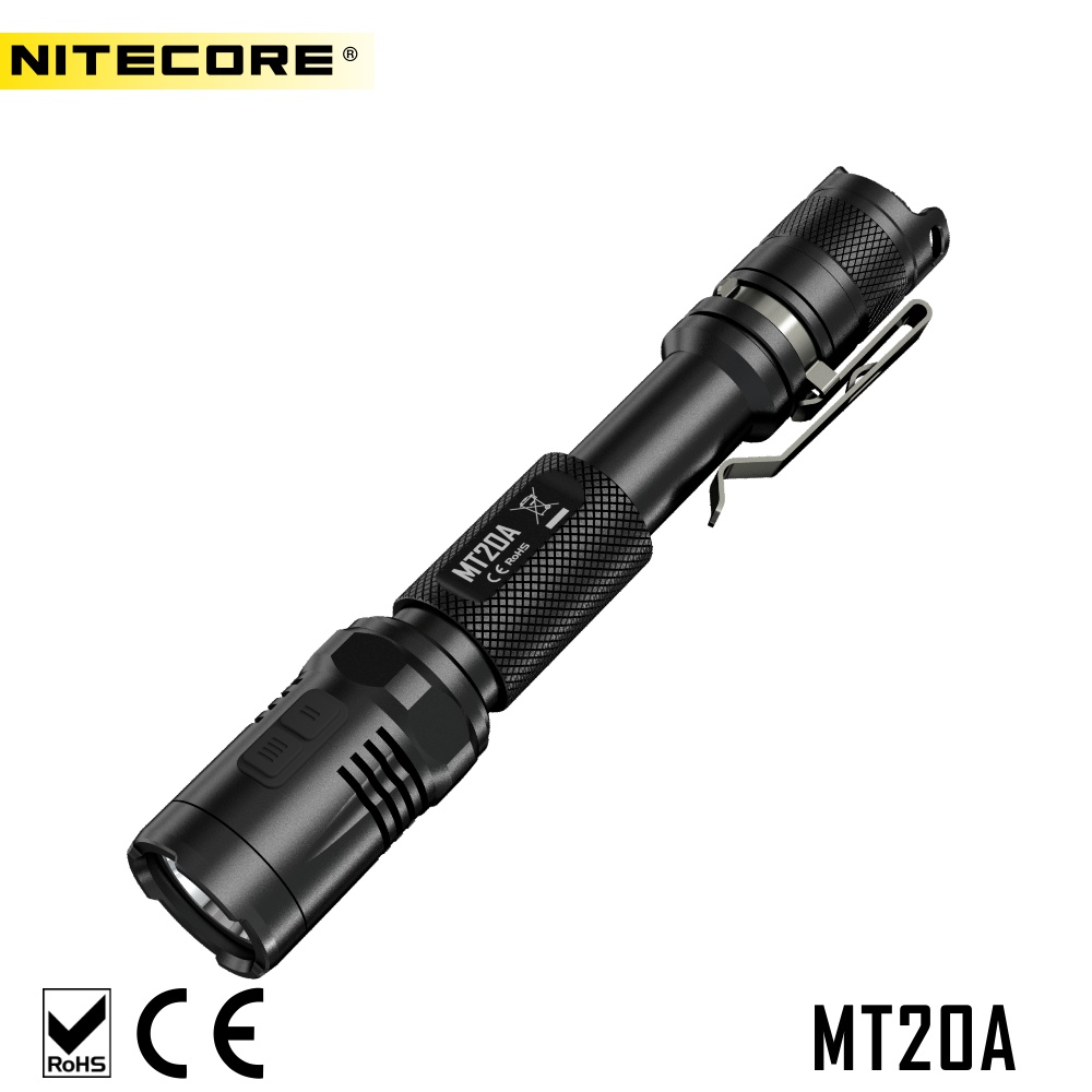NITECORE MT20A 360 Lumens AA EDC Red Light Tactical LED Torch Flashlight